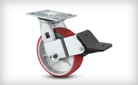 E-Line Mold-on Poly Caster with Wheel Face Brake