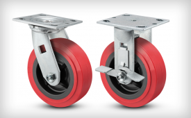 E-Line Thermo-Urethane (Red-on-Black) Casters