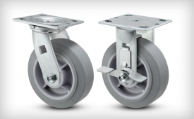 E-Line Thermo-Rubber (Flat) Casters