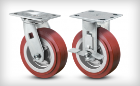 E-Line Thermo-Urethane (Maroon-on-Grey) Casters